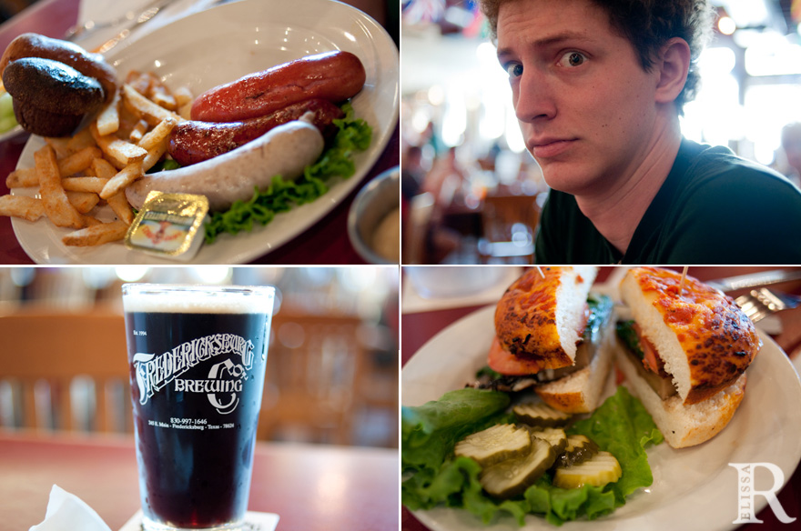 delicious fredericksburg food sausage sandwich beer vacation photos
