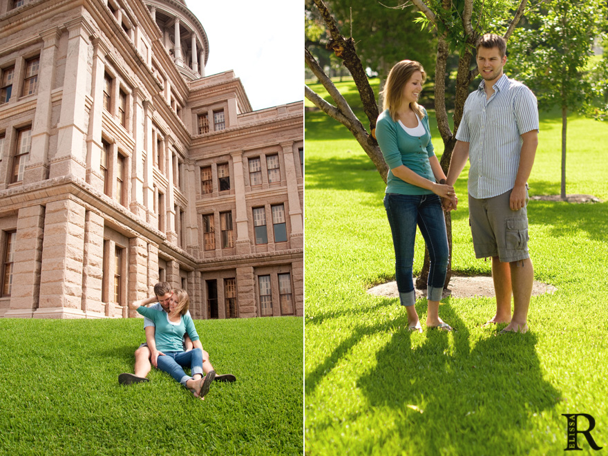 austin capitol engagement session