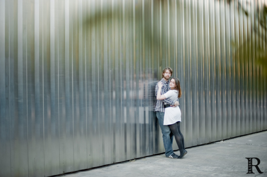 couple in front of contemporary arts museum houston camh