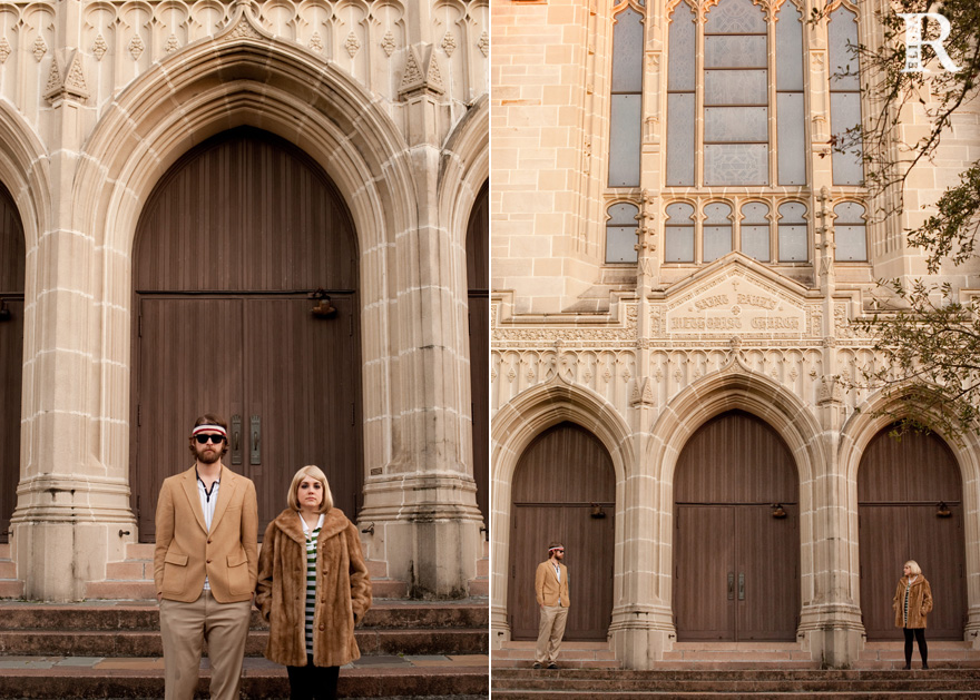 houston engagement photographer with wes anderson inspired shoot