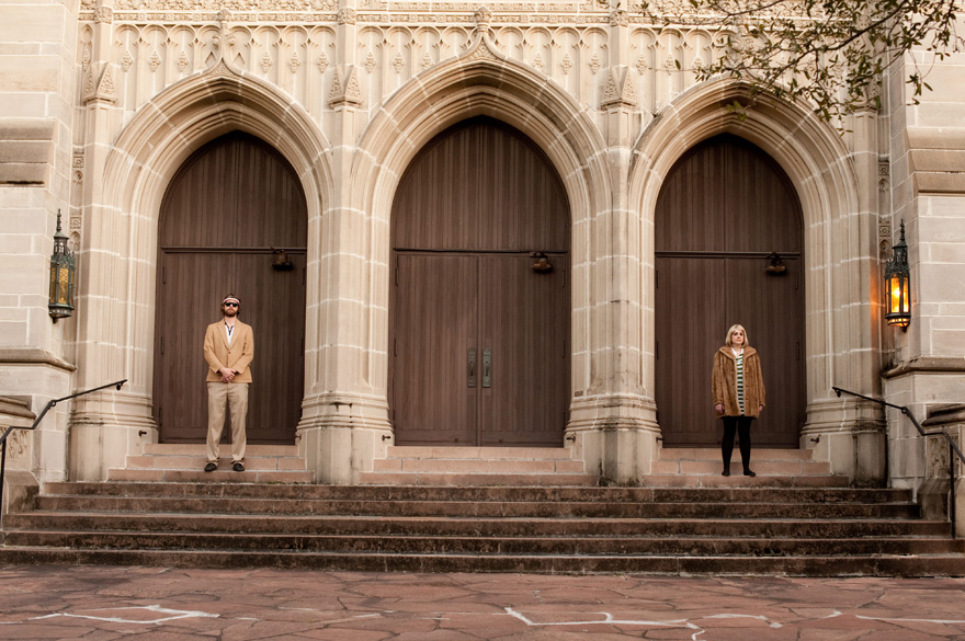 royal tenenbaums inspired engagement session