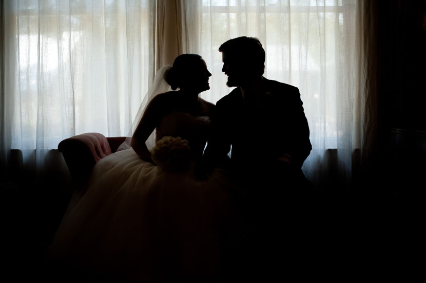 silhouetted bride groom portrait austin wedding photographer