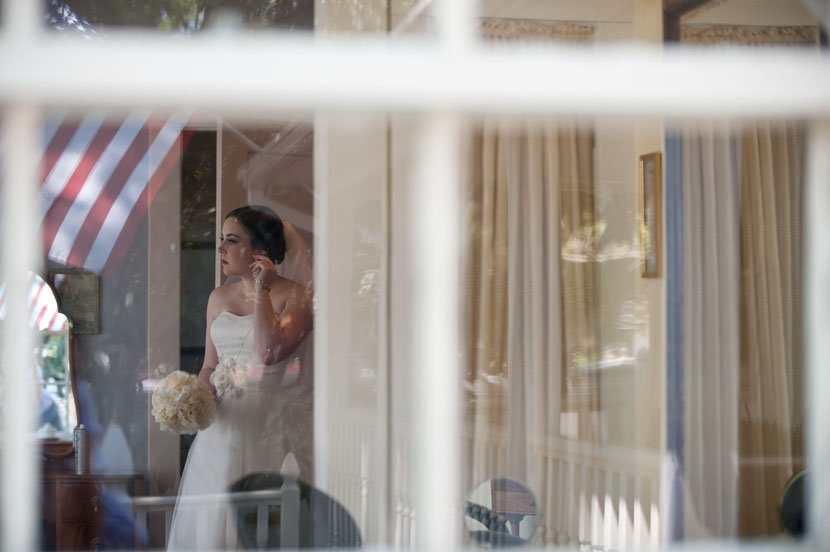 bride solitary contemplation before wedding ceremony begins americana