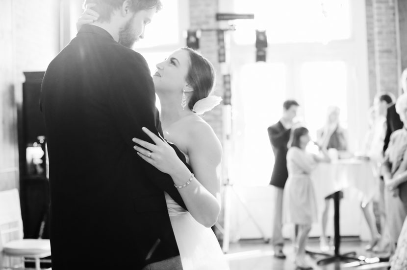 black and white first dance wedding reception
