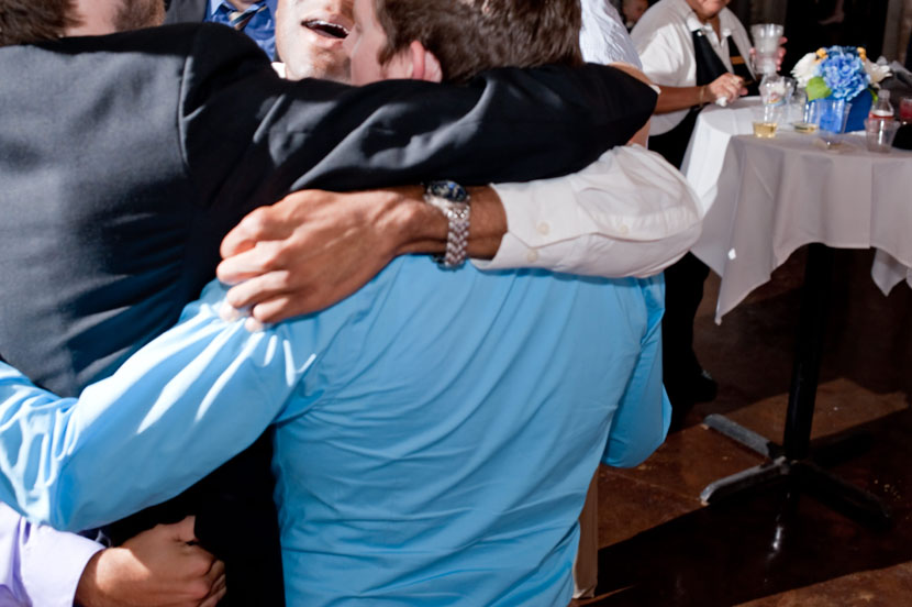 bro hug austin wedding photographer