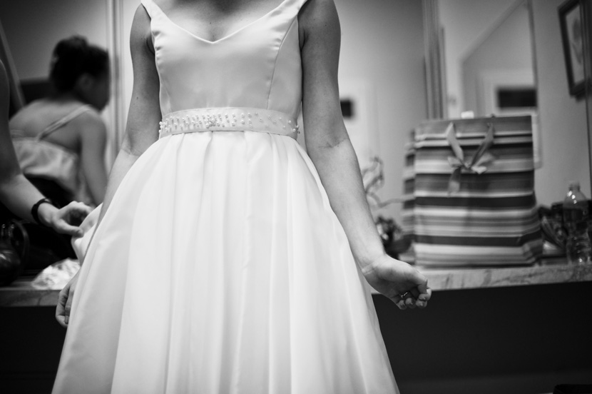 black and white photograph classic bride