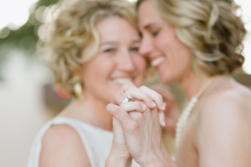 brides embrace