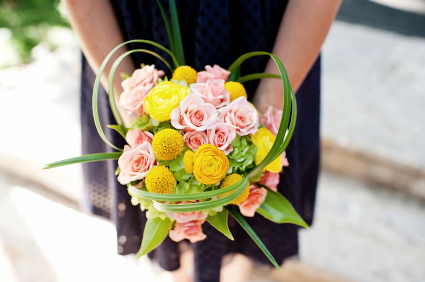 stylish floral bridesmaids bouquet