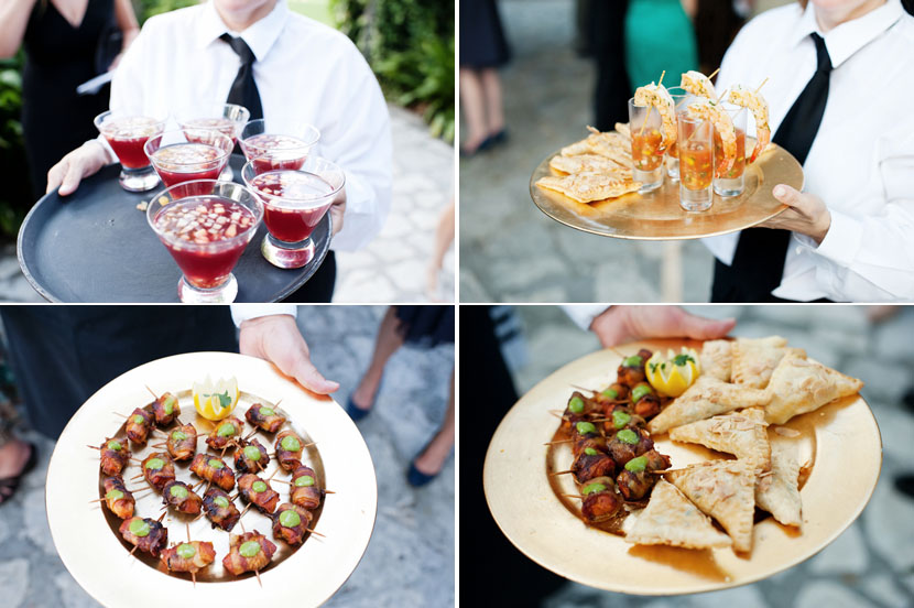 shrimp cocktail sangria pastries wedding reception finger food