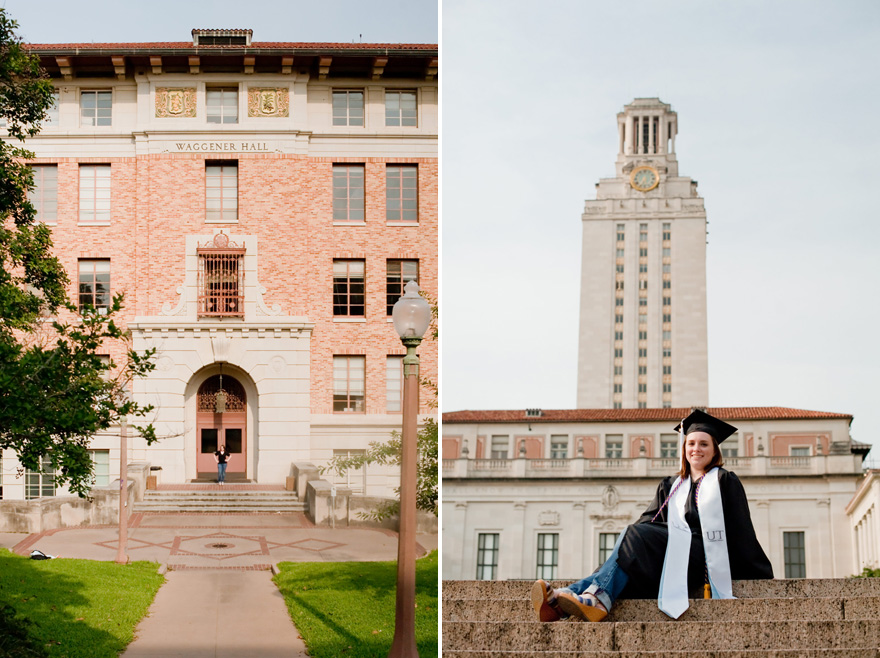university of texas at austin UT tower grad session photos