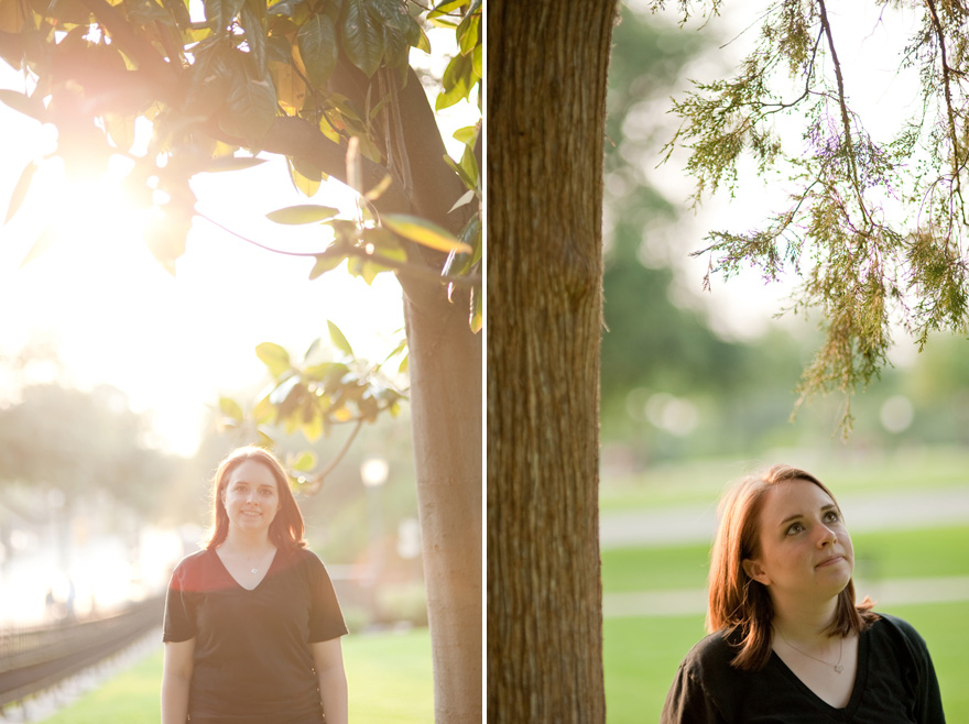 sunlit grad session on texas capitol grounds