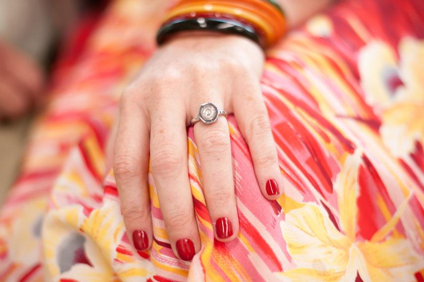nut bolt ring custom engagement jewelry