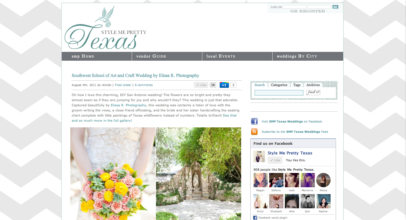 austin wedding photographer featured on style me pretty