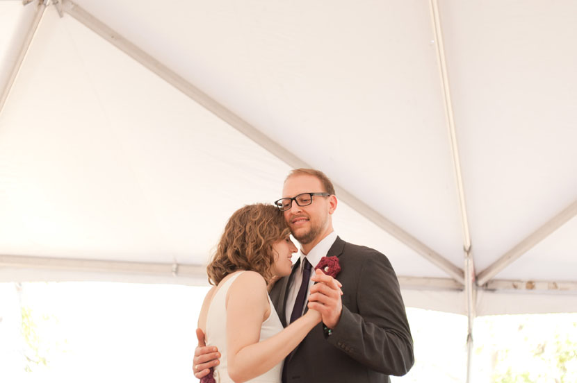 first dance in a tent austin wedding photography