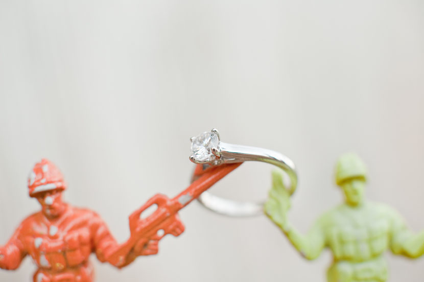 toy soldier ring shot austin weddings
