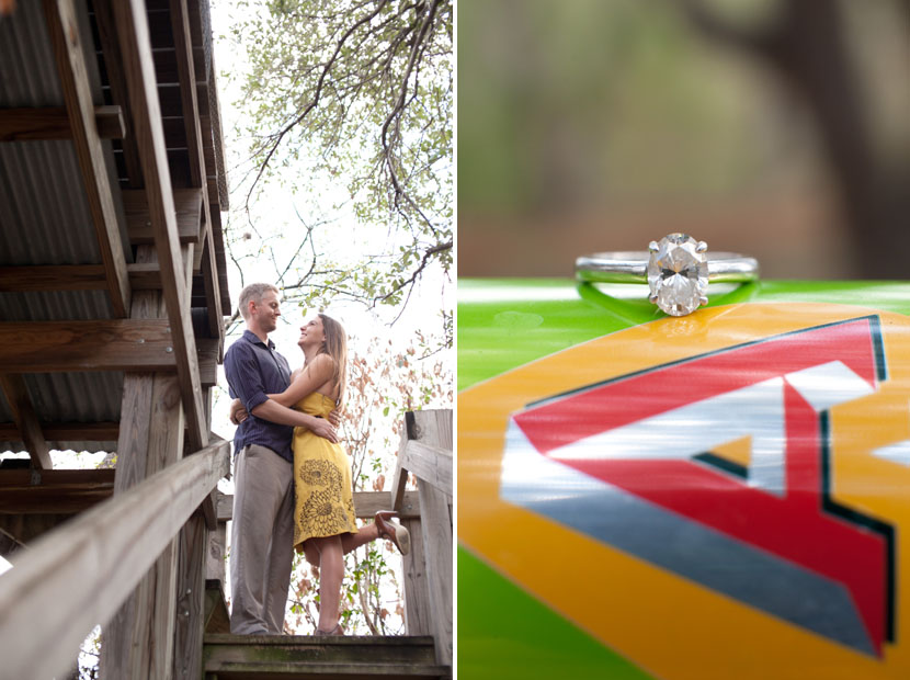 beer can ring photograph austin wedding photographer