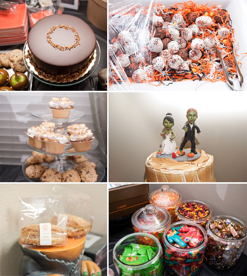 halloween wedding dessert table austin photography