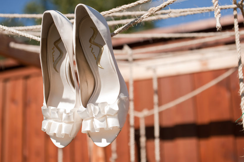 bridal shoes creative shot austin wedding photos