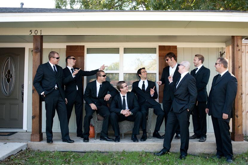 groomsmen portraits austin wedding photographer