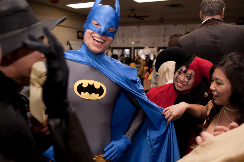 batman crashing a wedding