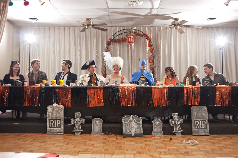 costumed head table austin wedding photographer