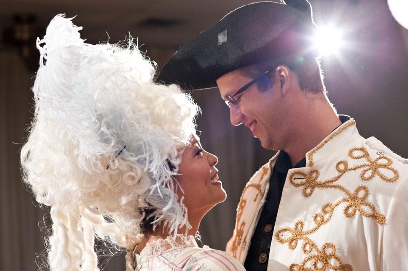 costumed wedding first dance