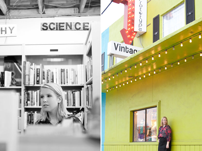 South Congress bookstore senior session