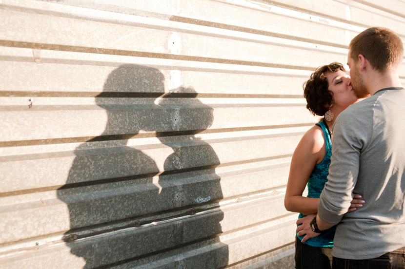 east austin engagement shadow play