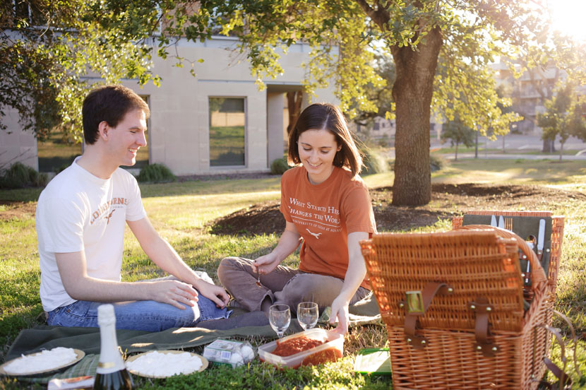 university of texas picnic engagement session