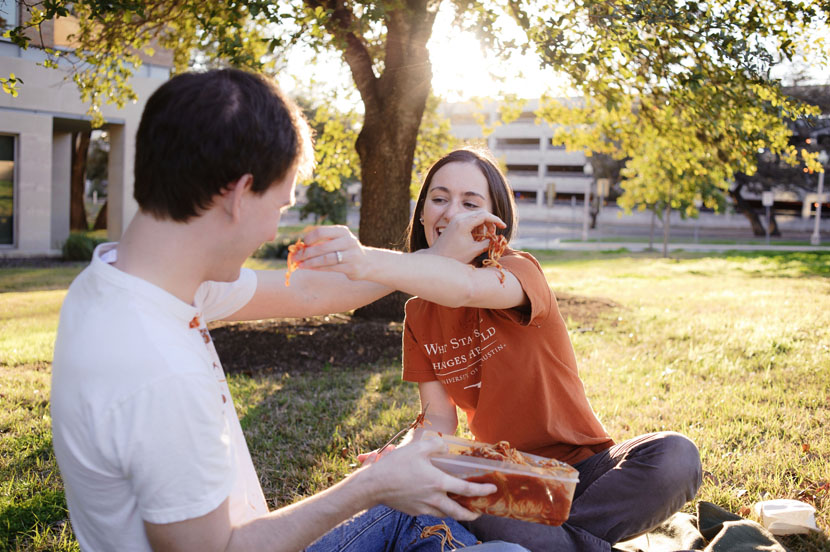 food fight engagement session