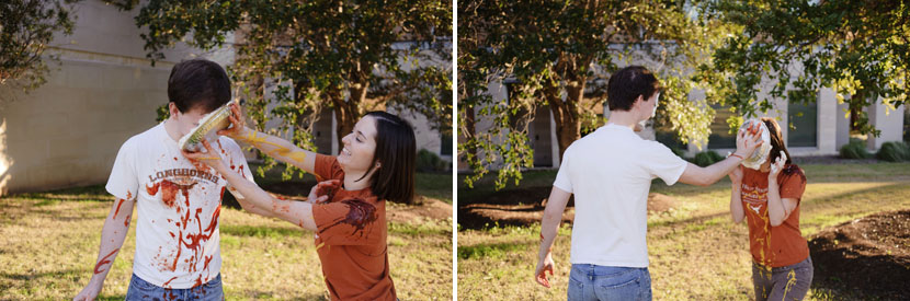 cool whip pies used in engagement session