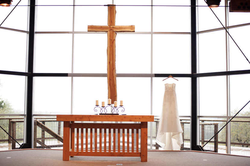 lutherhill ministries altar with wedding dress