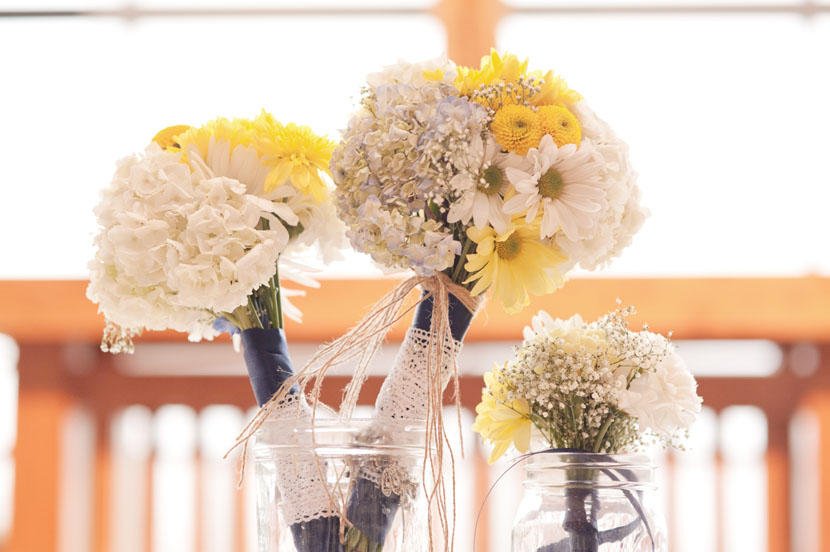diy flowers mason jars la grange wedding