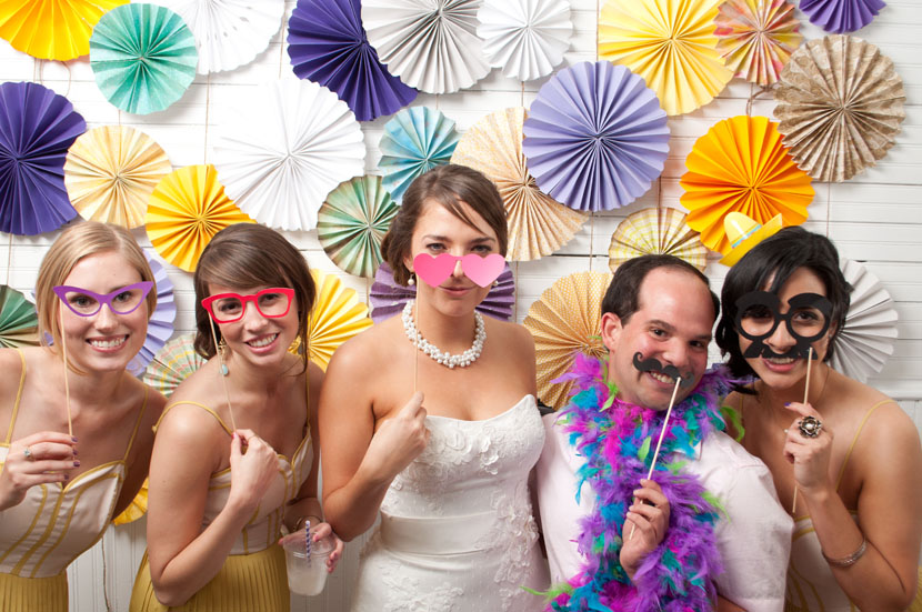 austin wedding photobooth picture