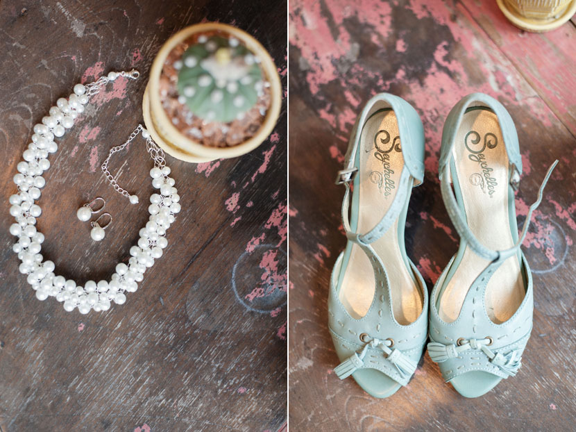 pearls and seychelles teal shoes