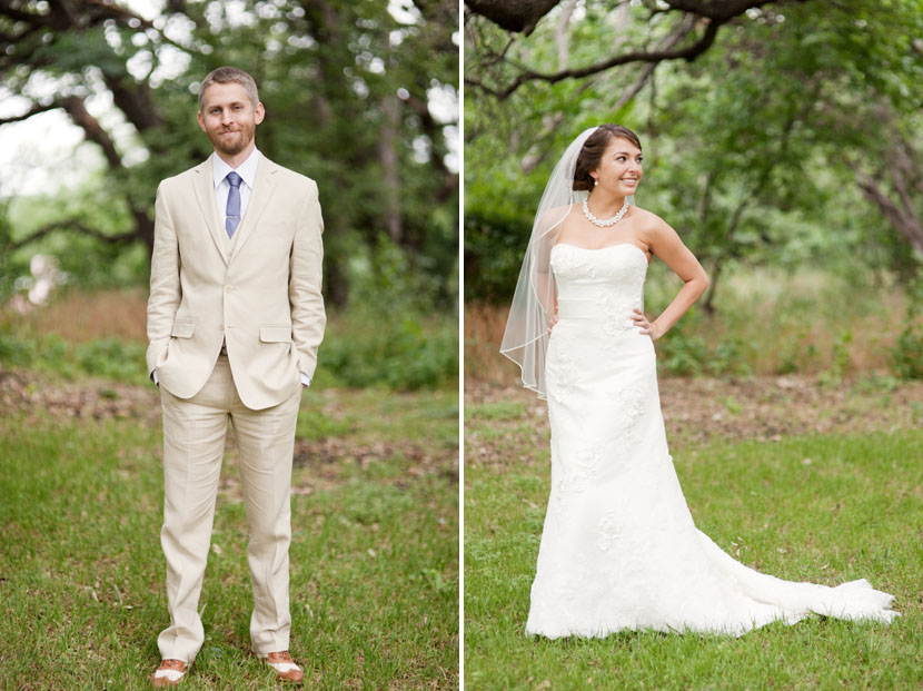 portraits of bride and groom at mercury hall austin