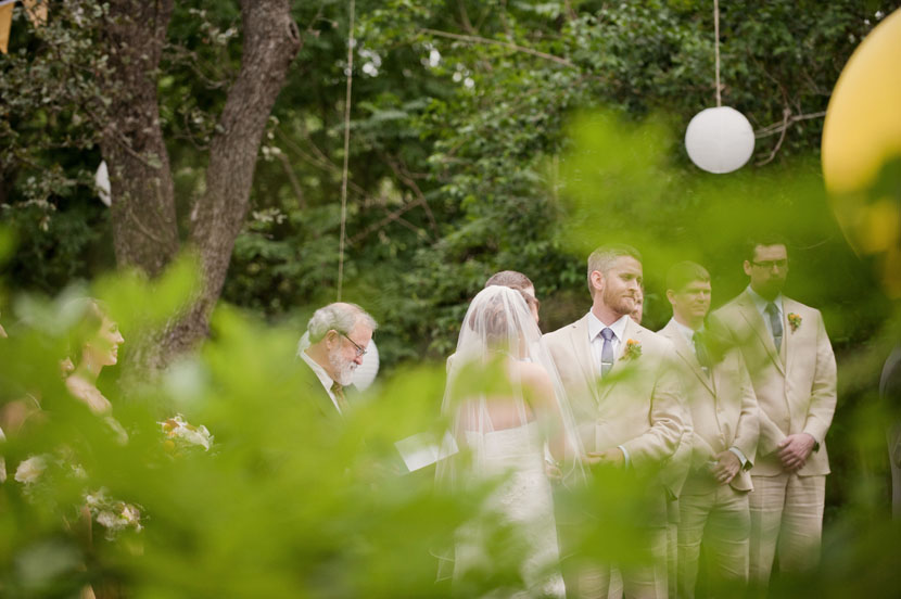 outdoor wedding ceremony at mercury hall