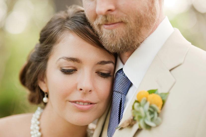 closeup of bride portrait photo