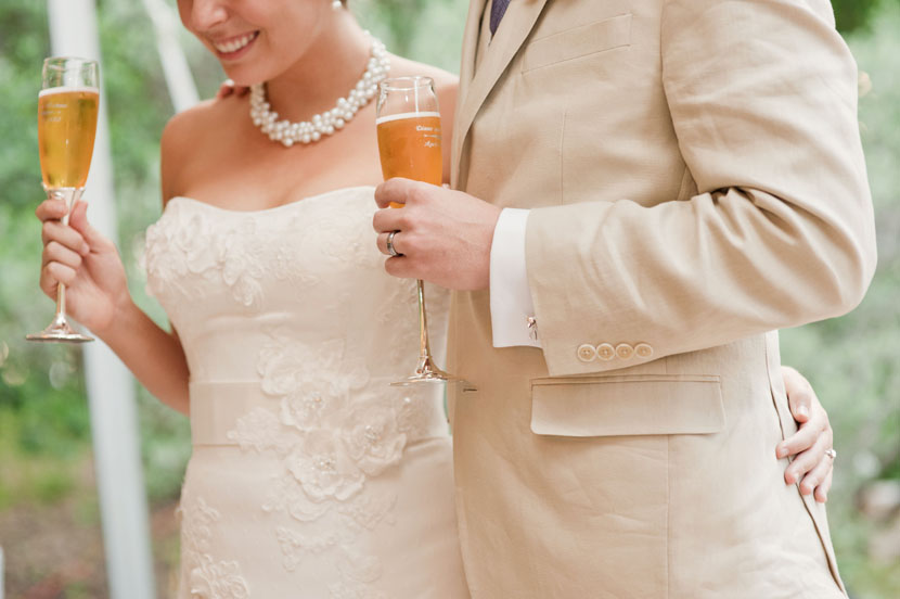 newlyweds react to wedding toasts