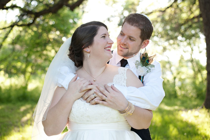 outdoor beautiful wedding portrait