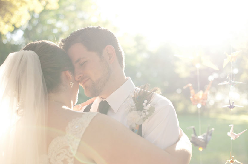sun-kissed wedding portrait in austin tx