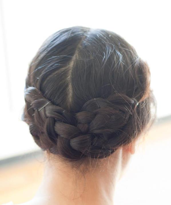 braided hairstyle when shooting weddings