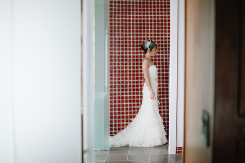 rectangles composition bride photo