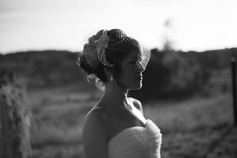 black and white outdoor bridal session