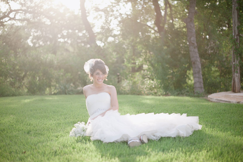 bridal session on fischer grounds