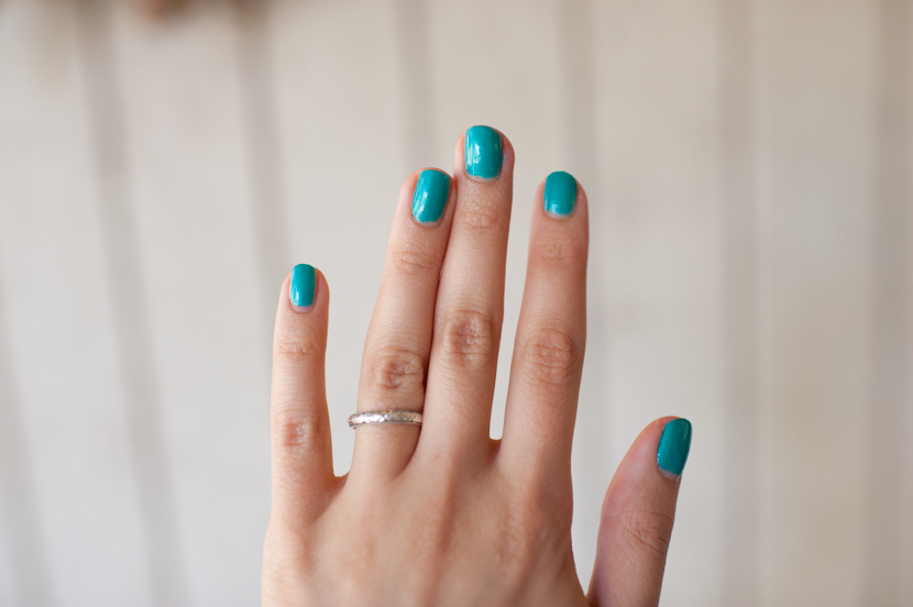 """""""turned up turquoise"""" by china glaze nail polish"""