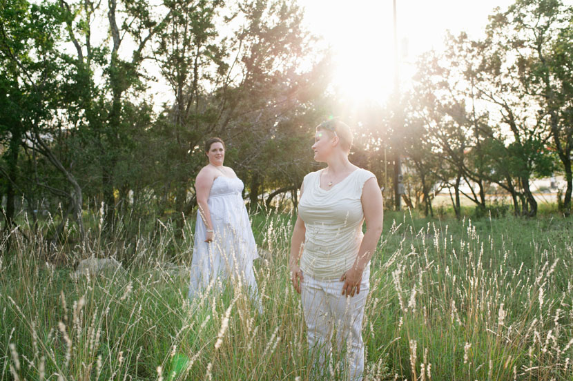 brides pose during wedding portrait session