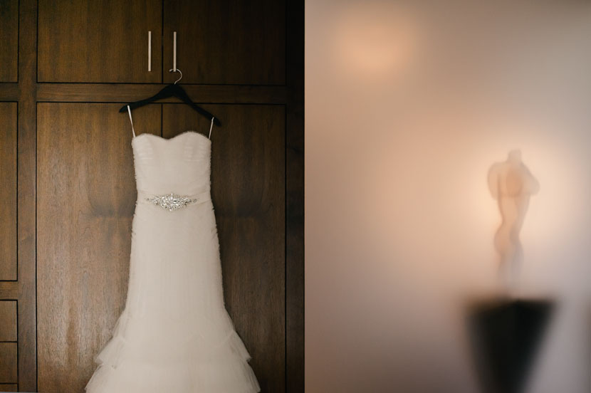 interesting composition wedding dress photo