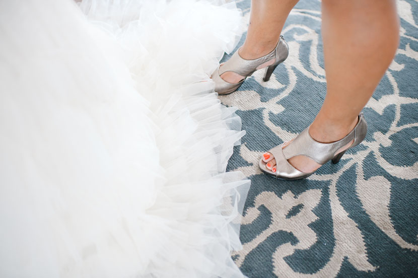 carpet dress and shoes wedding picture
