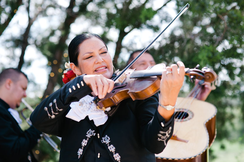 mariachi violinist performing at wedding